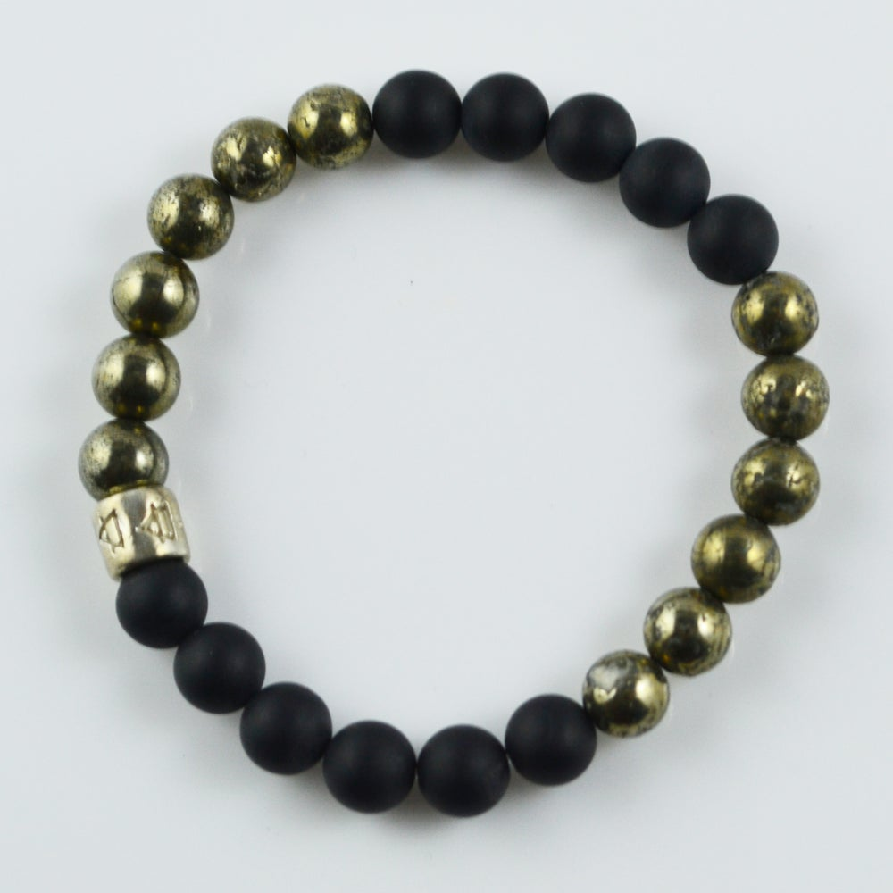 Image of Black Onyx and Pyrite Bracelet
