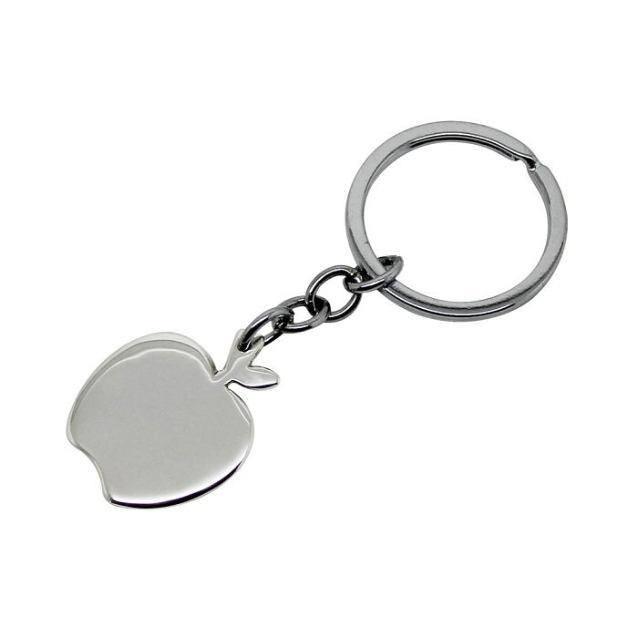 Image of Apple Sterling Silver Key Chain