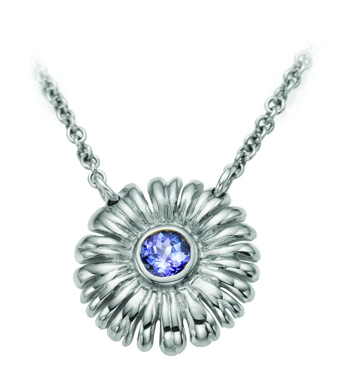 Image of Sunflower Necklace with Tanzanite