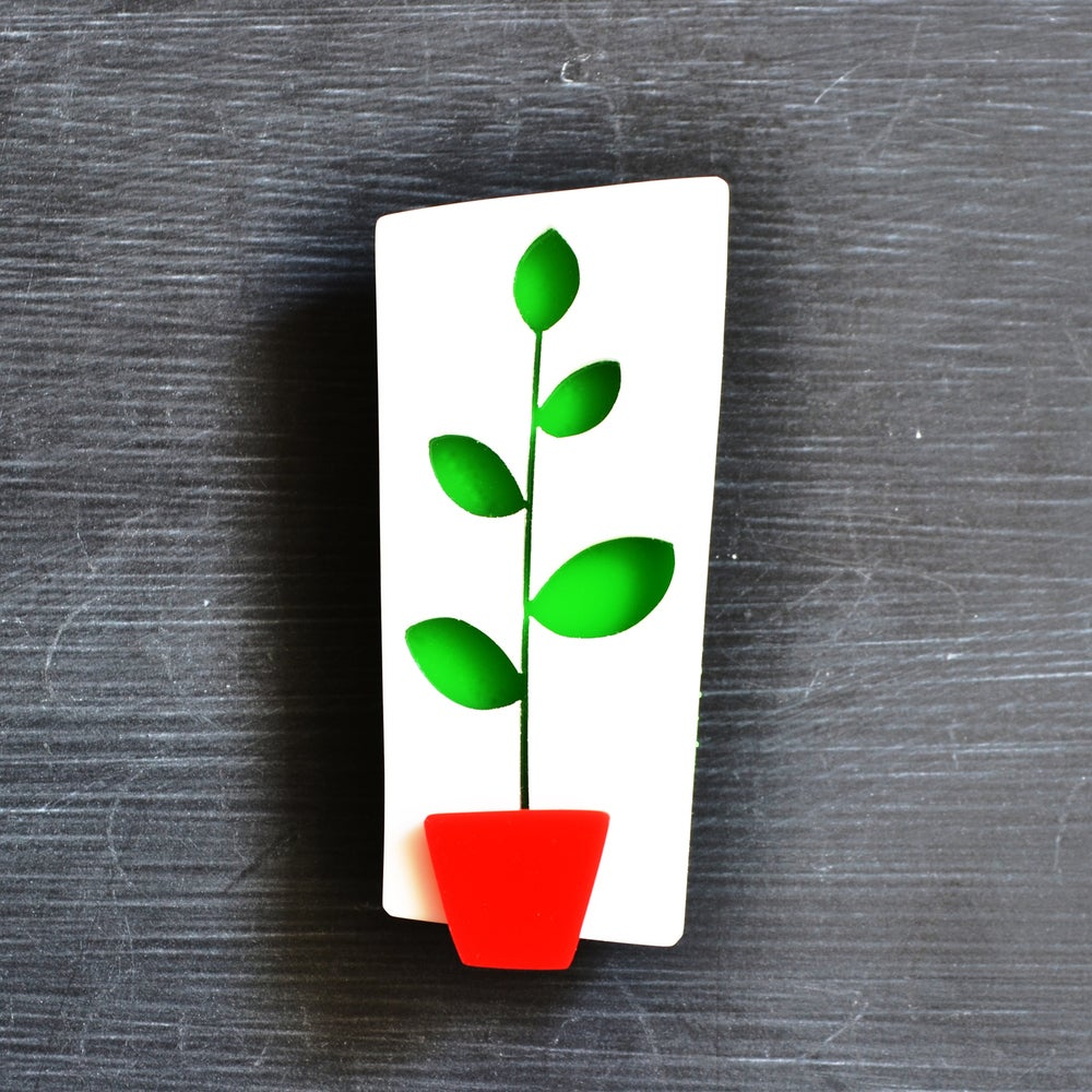 Image of Rubber Plant Brooch