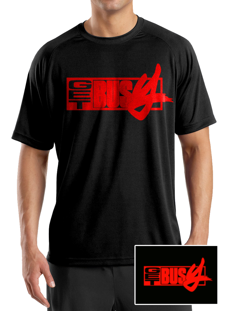 Image of T.Shirt GET BUSY Noir /logo Rouge