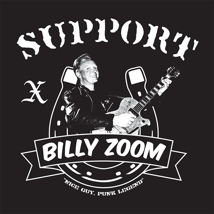 Image of Men's Black Support Billy Zoom Tee