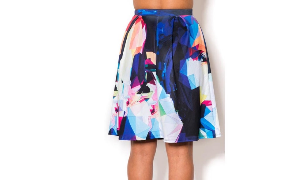 Image of Color Abstract Skirt