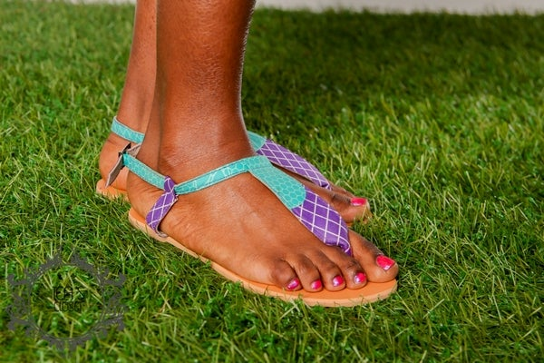 Image of MORENIKE AFRICAN PRINT SANDALS