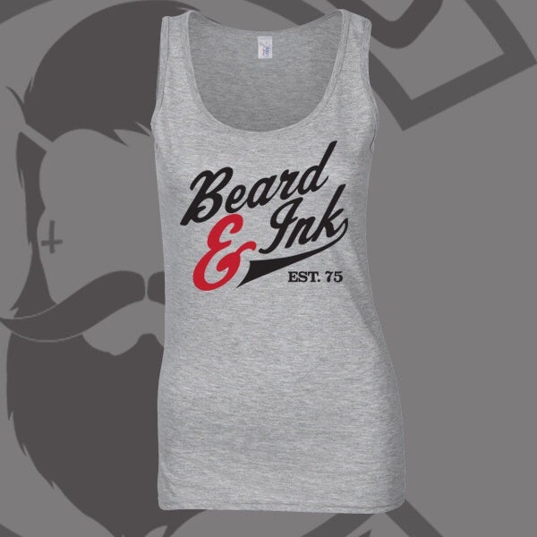 Image of Grey Beard & Ink Script Logo Vest