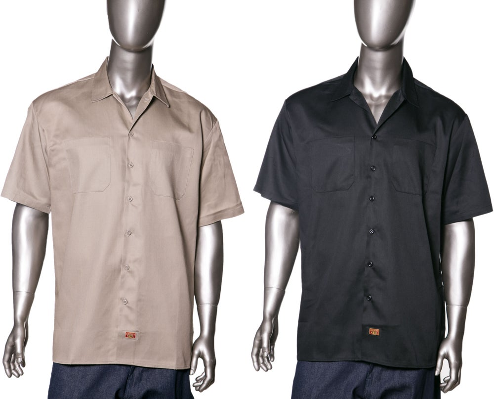 Image of Dickies Twill Work Shirts Style-Short Sleeve