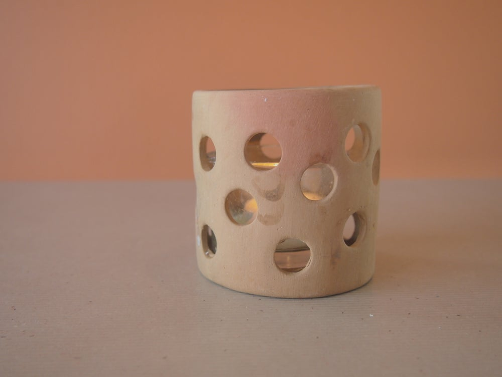 Image of Clay candleholders
