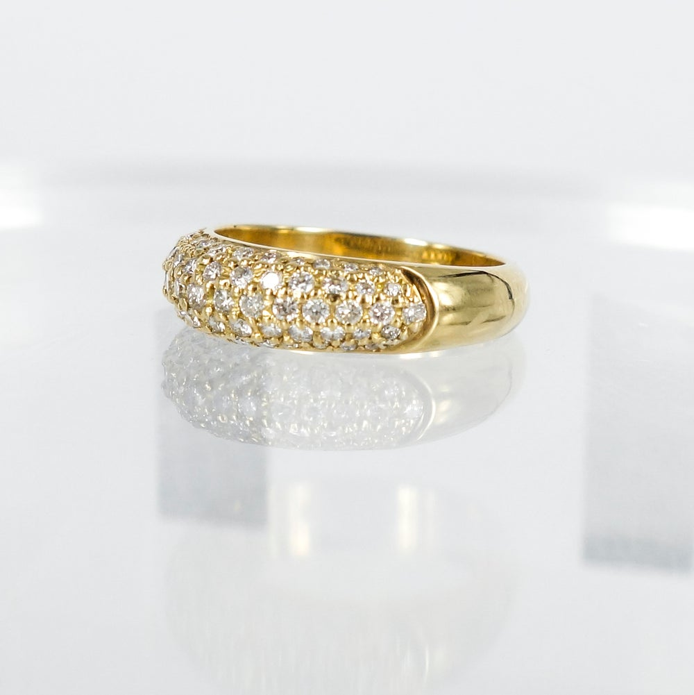 Image of PJ4819 18ct yellow gold pave diamond dress ring