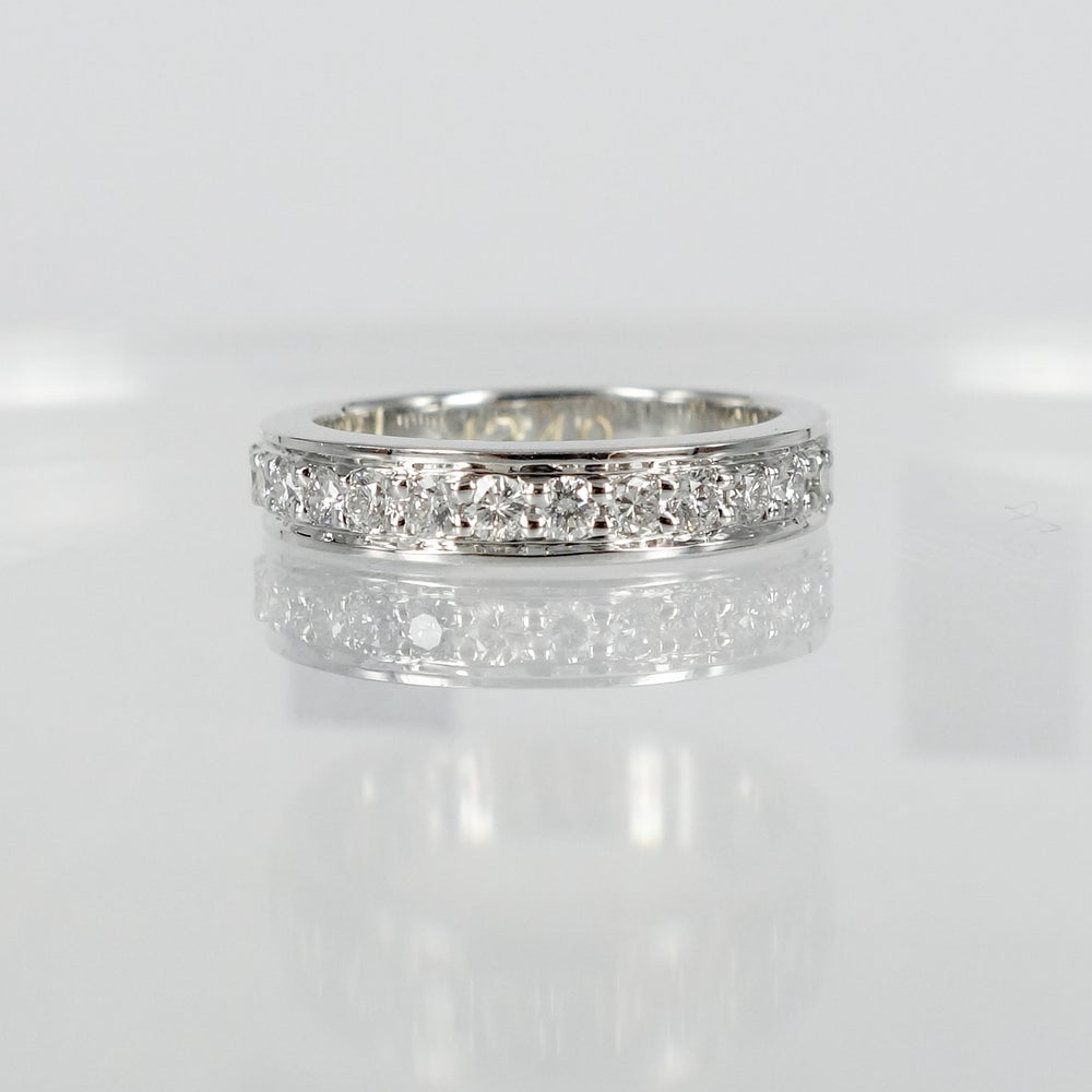 Image of PJ4349 18ct white gold diamond band