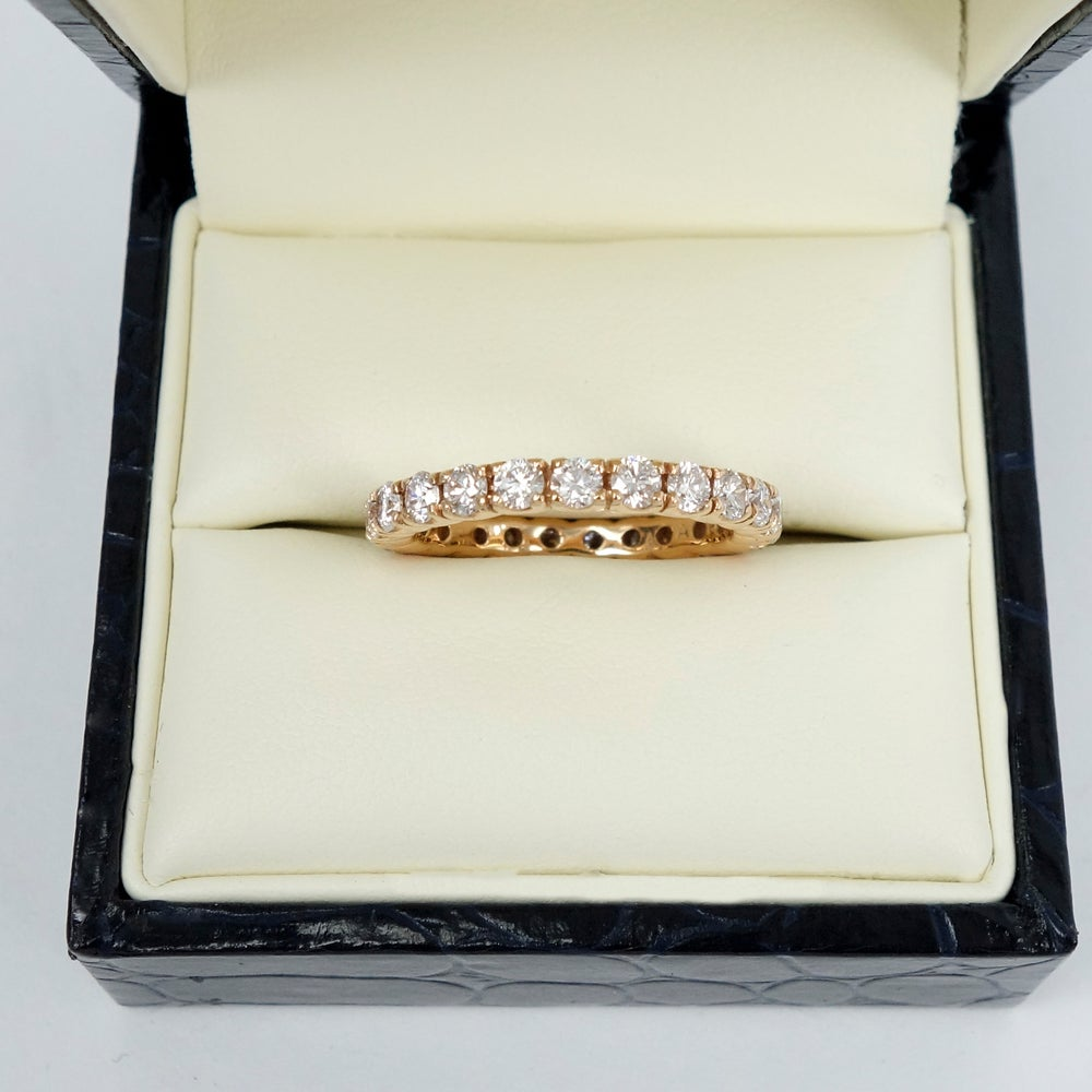 Image of PJ5505 18ct Rose gold full set diamond band