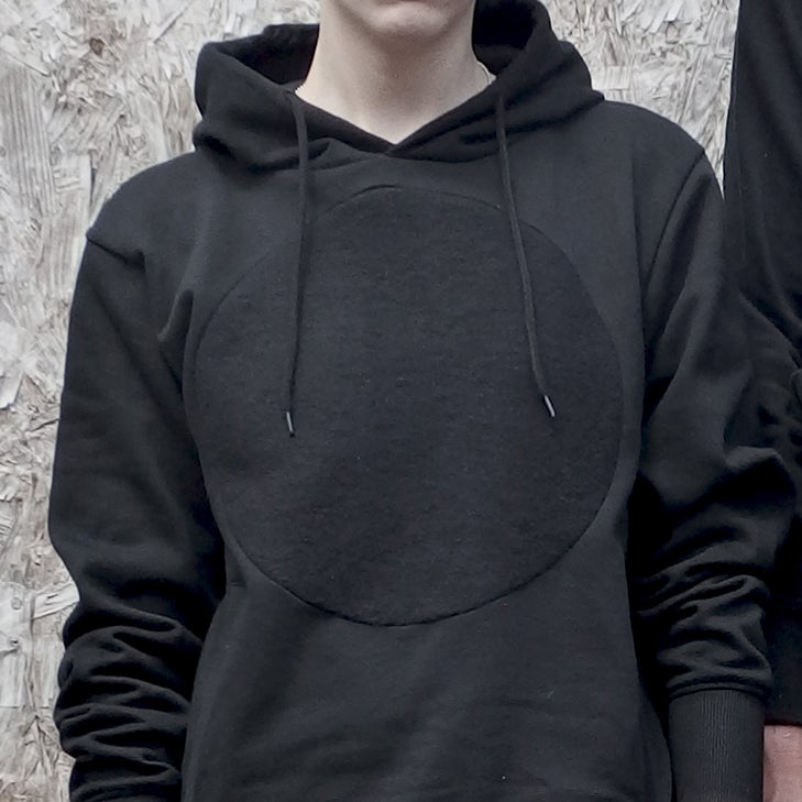Image of GREY LABEL LUNAR PULLOVER HOODY IN FULL ECLIPSE BLACK