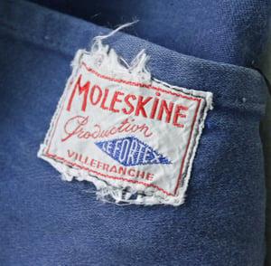 Image of 1940'S FRENCH BLUE MOLESKIN WORK JACKET FADED 2