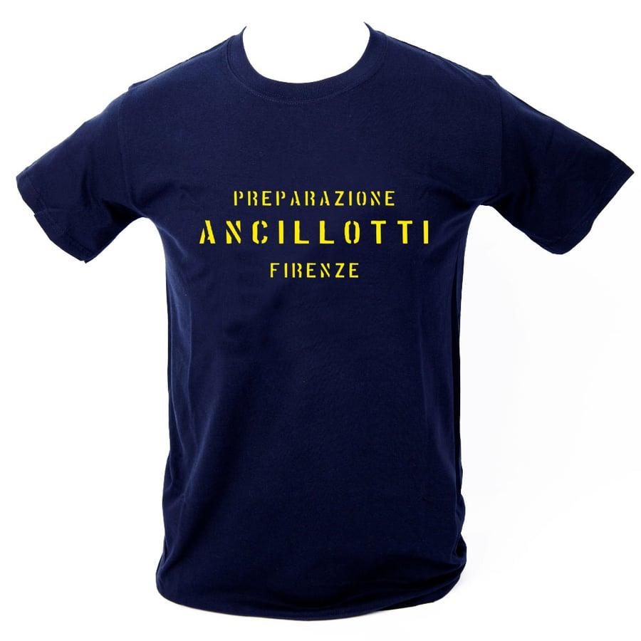 Image of Ancillotti T-Shirt. NAVY BLUE