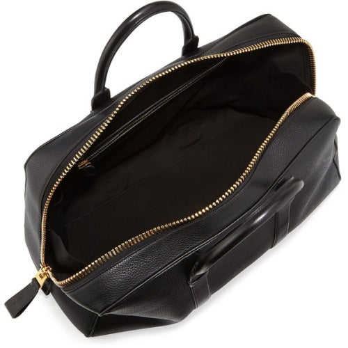 Image of TOM FORD BUCKLEY LEATHER DUFFLE BAG & LEATHER TOILETRY CASE