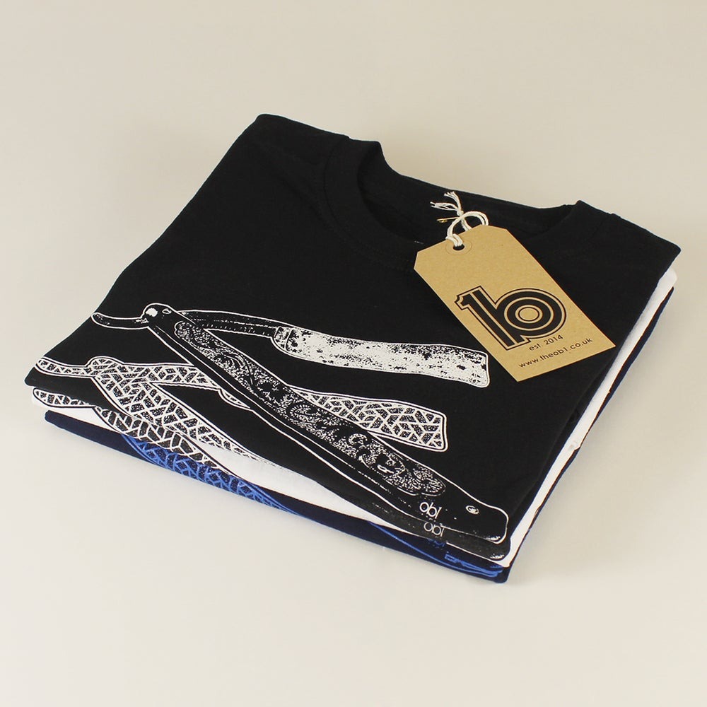 Image of ob1 x Steve Parsons - Cut Throat Razor Tee