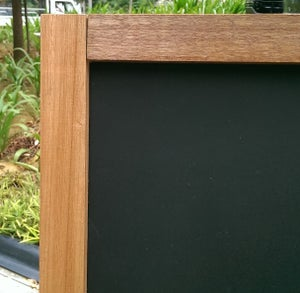 Medium Double Sided Standing Chalkboard with Natural Wood Frame (90cm X 60cm)
