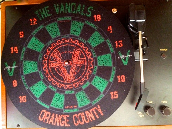 Image of The Vandals: Turntable Dart Board Slipmat
