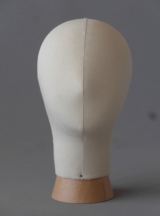 Image of Kid Poupee Millinery Head /Canvas Hat Form