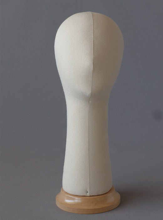 Image of Kid Poupee Millinery Head with long neck /Canvas Hat Form