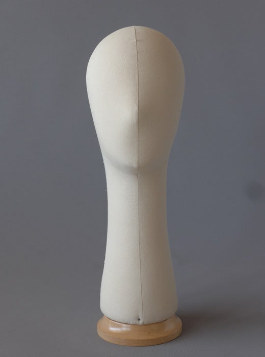 Image of Poupee Millinery Head with long neck /Canvas Hat Form