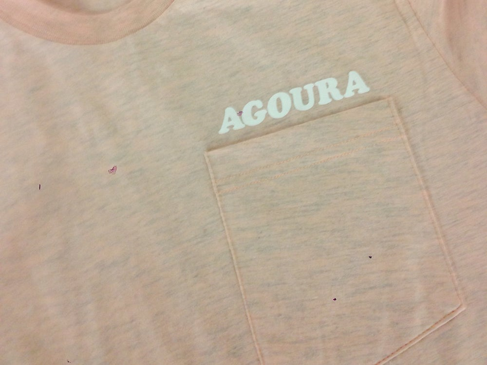 Image of Agoura Lover - Pocket Tee Apricot/White