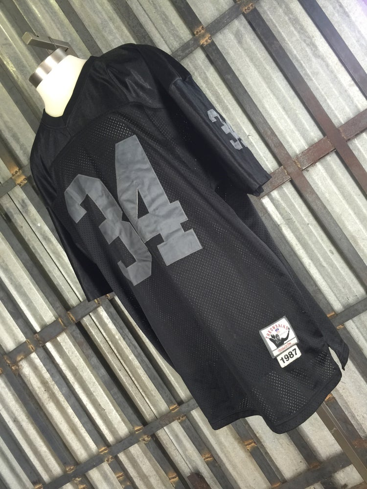 brand new 87003 82124 VTG NFL Mitchell & Ness Bo Jackson Oakland Raiders Black Authentic  Throwback Jersey Sz 48