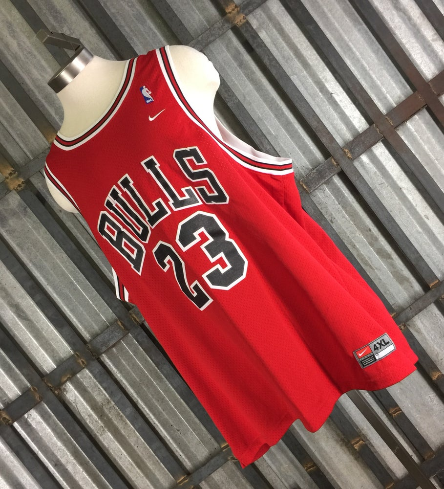 low priced 6c004 39f9d NBA Nike Michael Air Jordan Chicago Bulls Basketball Jersey All lettering  stitched Sz 4 XL