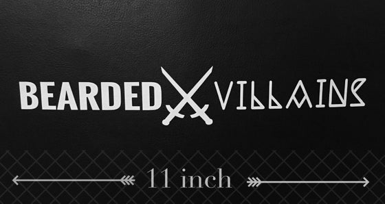 Image of BEARDED⚔VILLAINS Logo Sticker