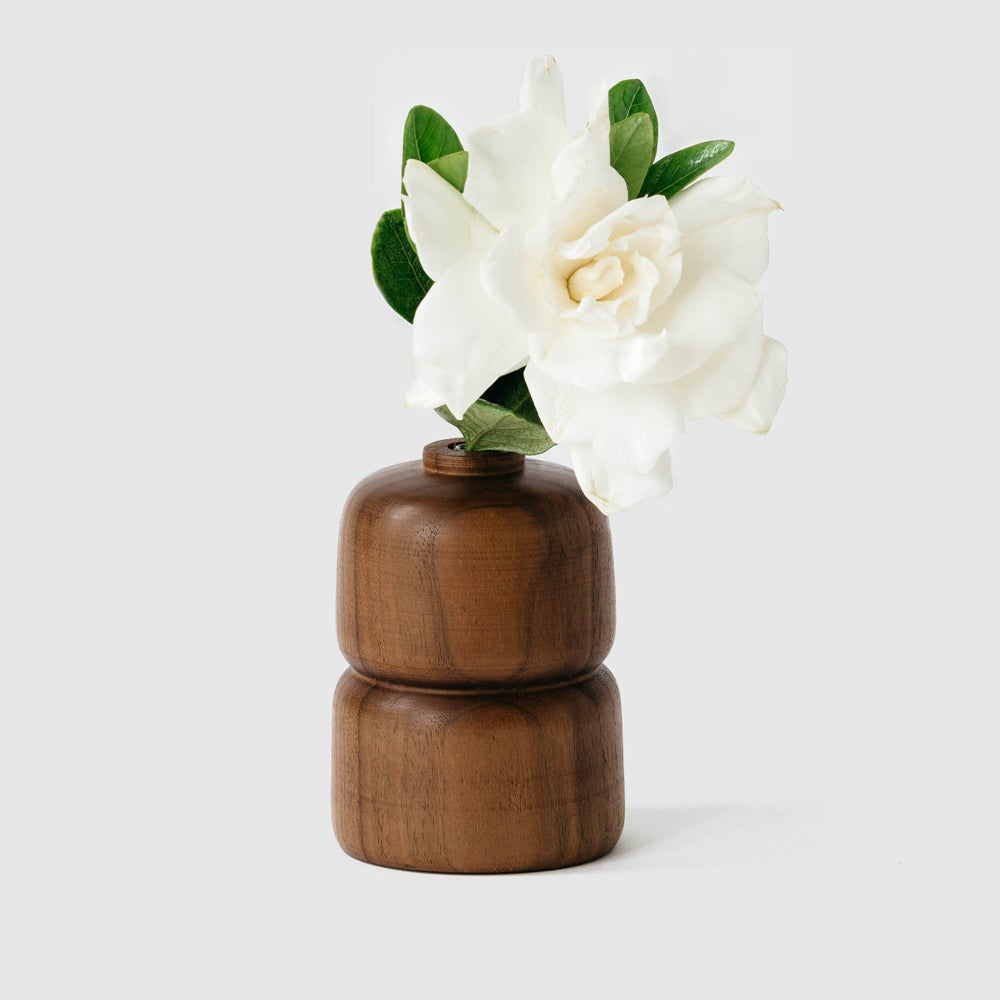Image of Double Walnut Bud Vase