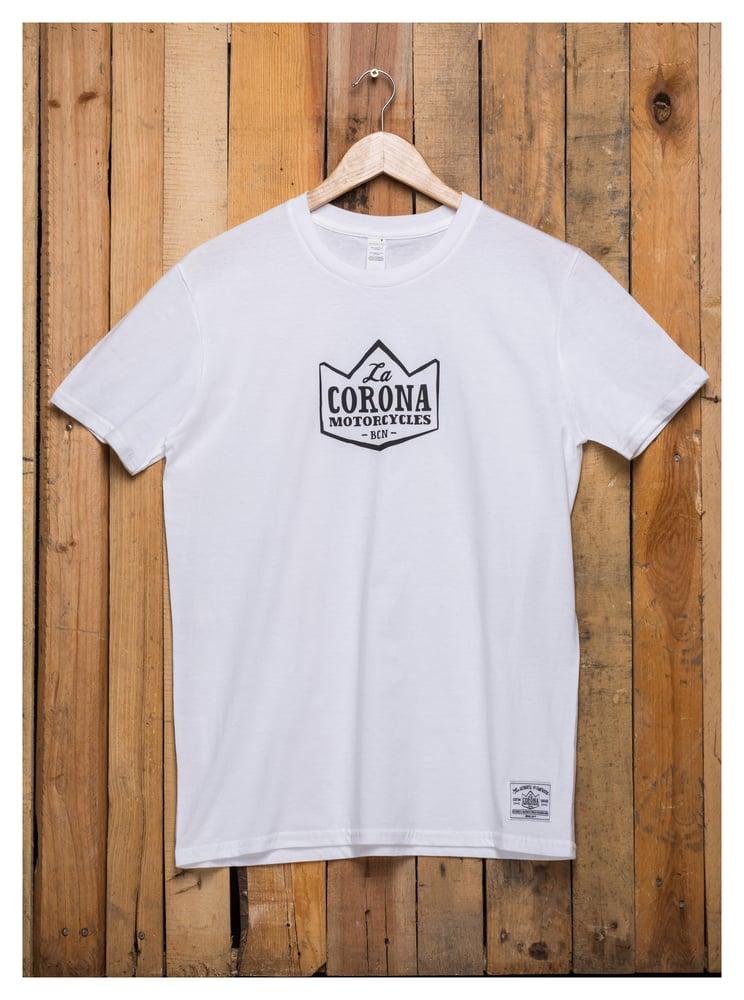 Image of LA CORONA LOGO (White)
