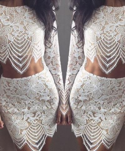 Image of Fashion embroidery two-piece dress HBF45CF