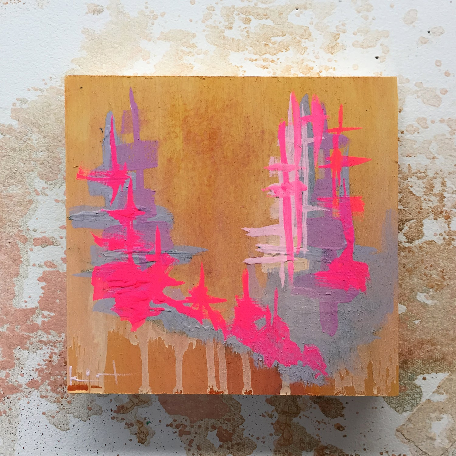 Image of Tiny Painting No. 26 (opera, fog, mustard)
