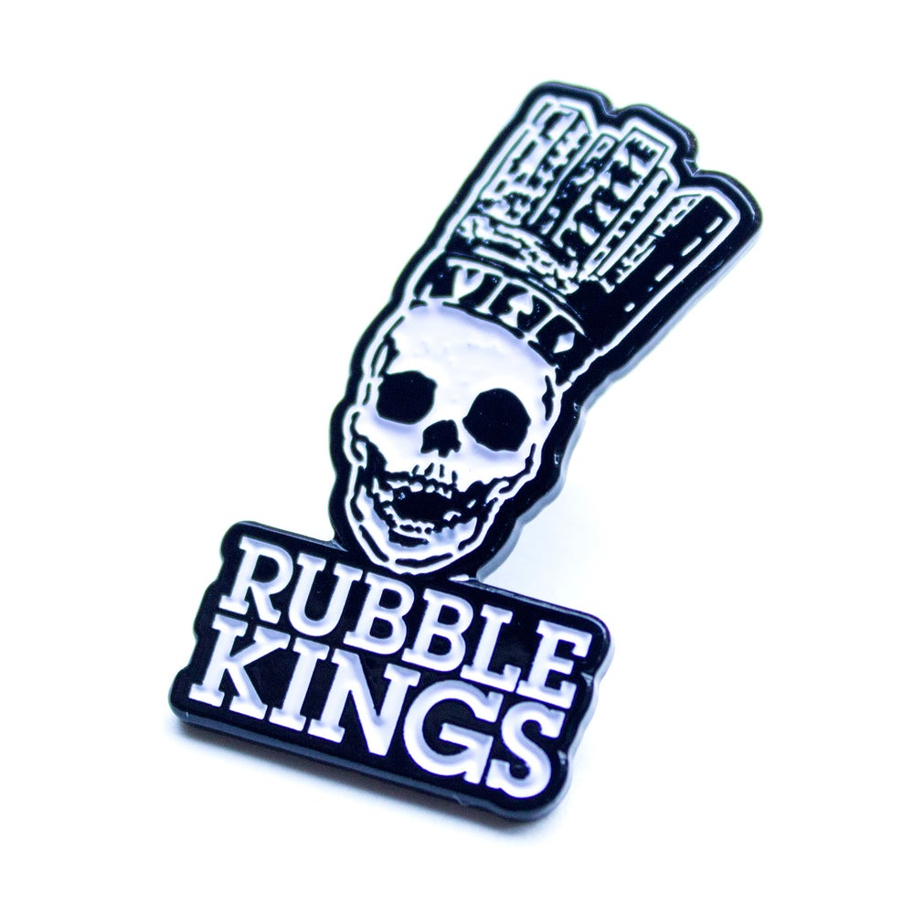 Image of RUBBLE KINGS ENAMEL PIN