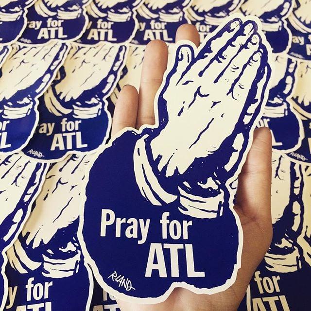 Image of Pray for ATL Jumbo  sticker