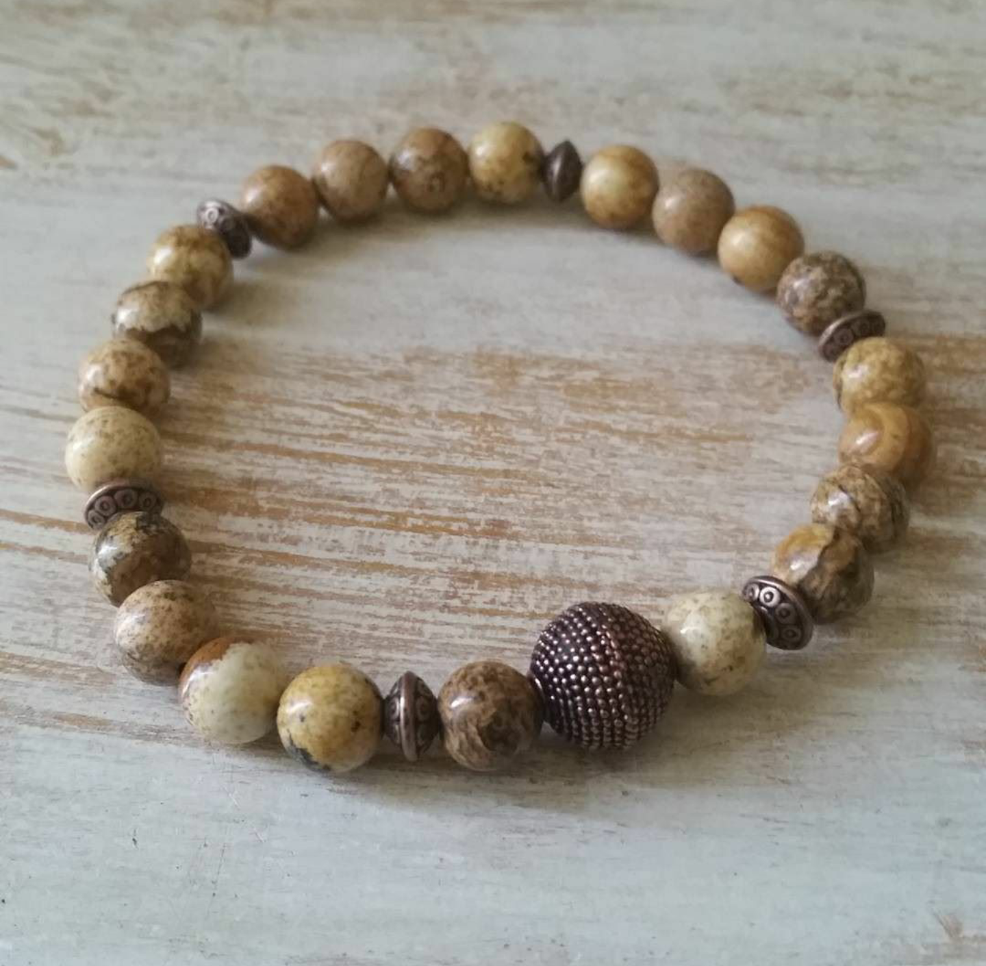 Image of PICTURE JASPER BRACELET