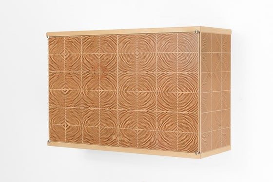 Image of End Grain Parquet Cabinet