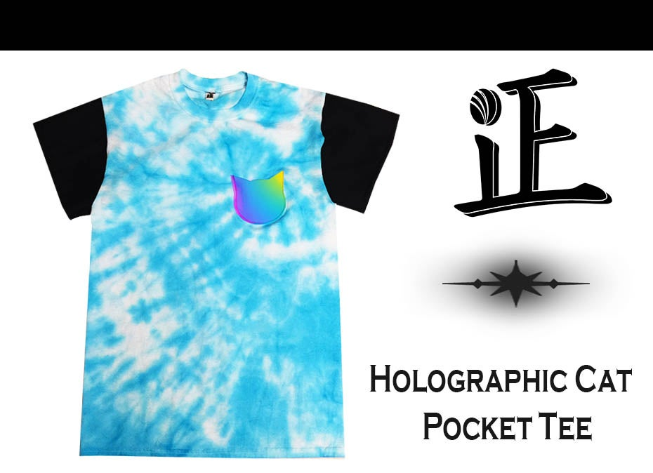 Image of Holographic Cat Pocket Tee