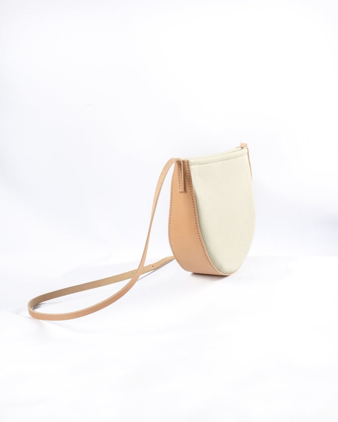 Image of Round Crossbody in Cream
