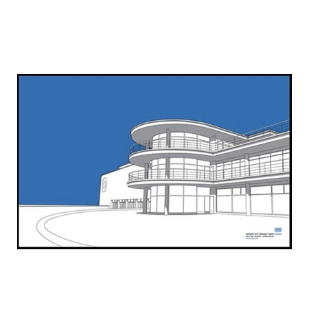 Image of DLWP Tea Towel – Available in blue or yellow