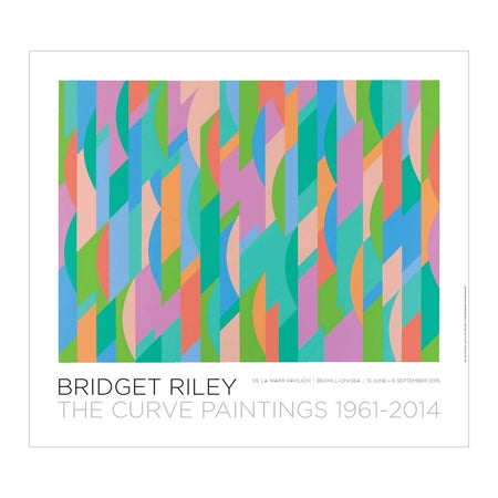 Image of Bridget Riley – The Curve Paintings 1961-2014: Lagoon Poster