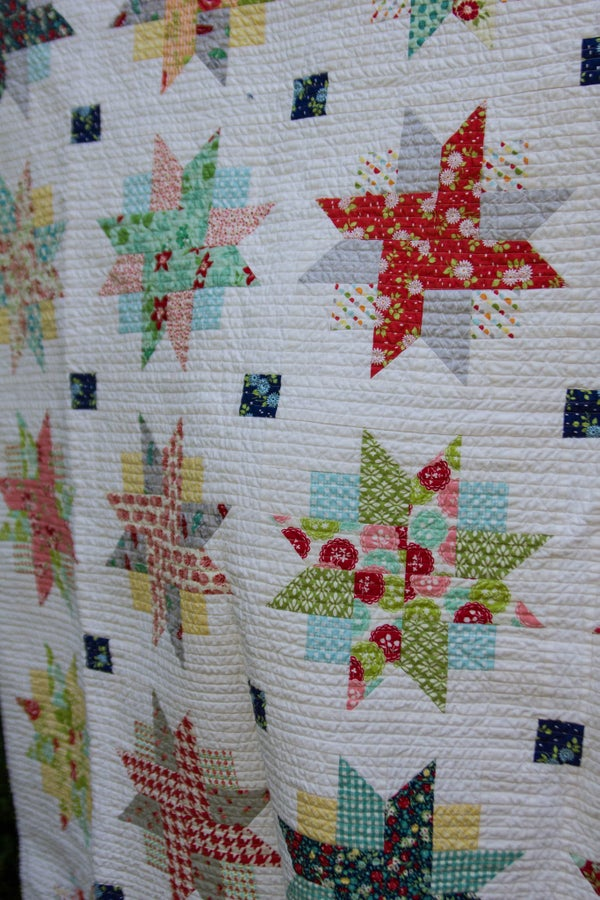 Image of Summertime Sunburst Quilt - PDF Pattern ONLY