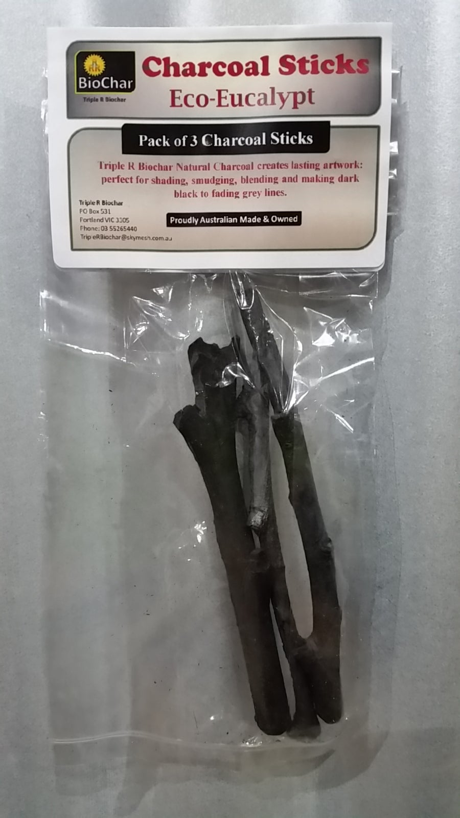 Image of Charcoal Sticks Eco-Eucalypt  - Pack of 3