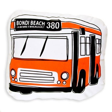 Image of 380 Bondi Beach Bus Shaped Cushion