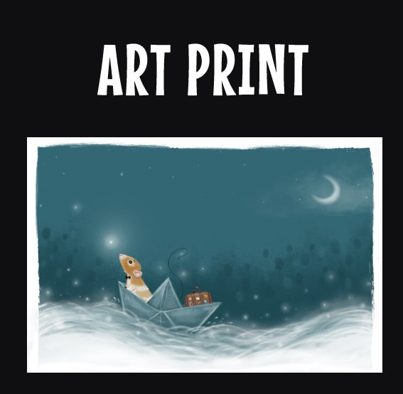 Image of Marty & the Paper Boat - FINE ART PRINT