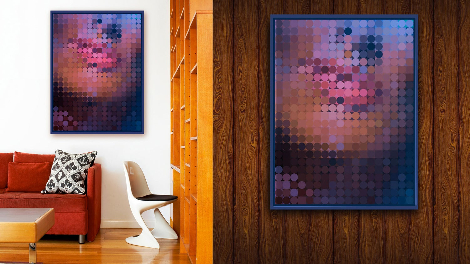 Image of Squint Abstract Face Print - 2