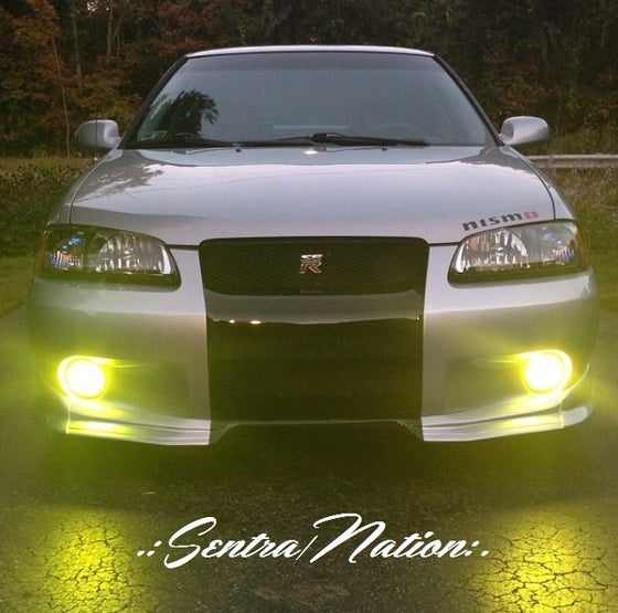 Image of (All Sentras) JDM Inspired Frosted Yellow Tinted Foglight Inlays(B14,B15,B16)