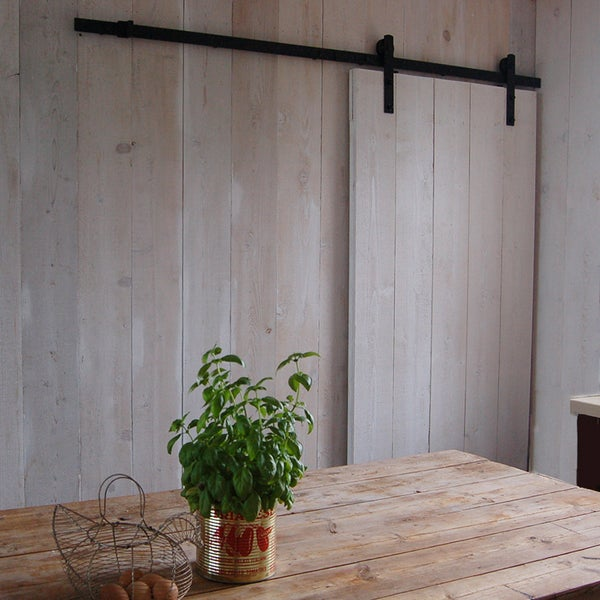 Image of The Ohio Barn Door Kit (matt black)