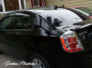Image of (B16) 07-12 Sentra Smoked Window Wind/Rain Deflector