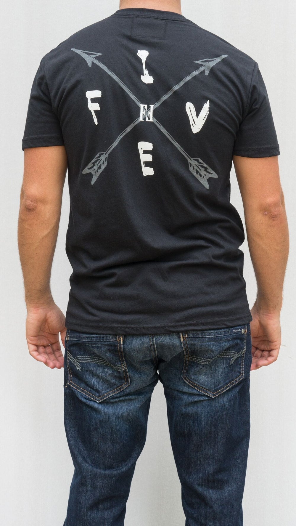 Image of Arrow Tee: (Black)