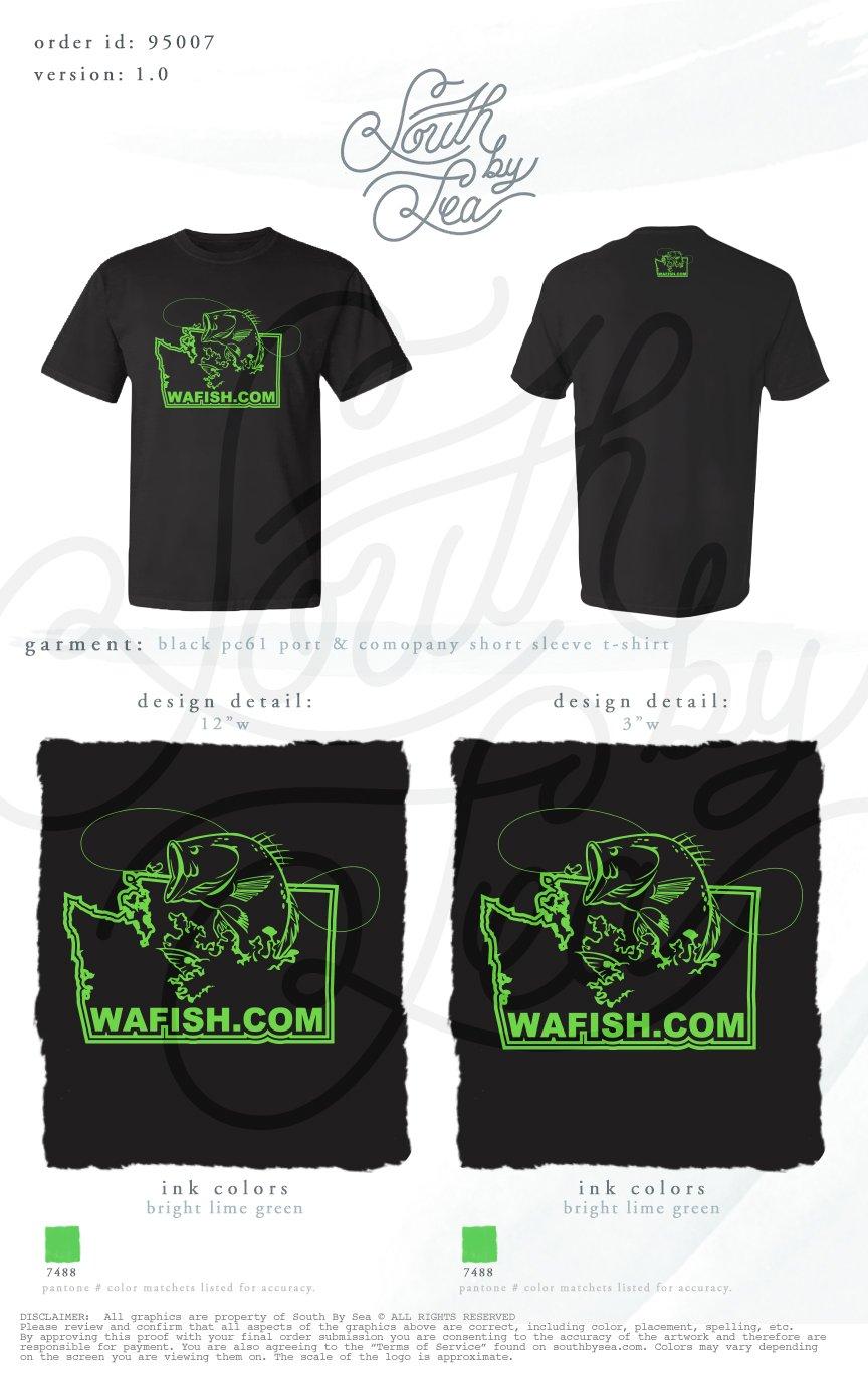 Image of Black WAFISH T-Shirt